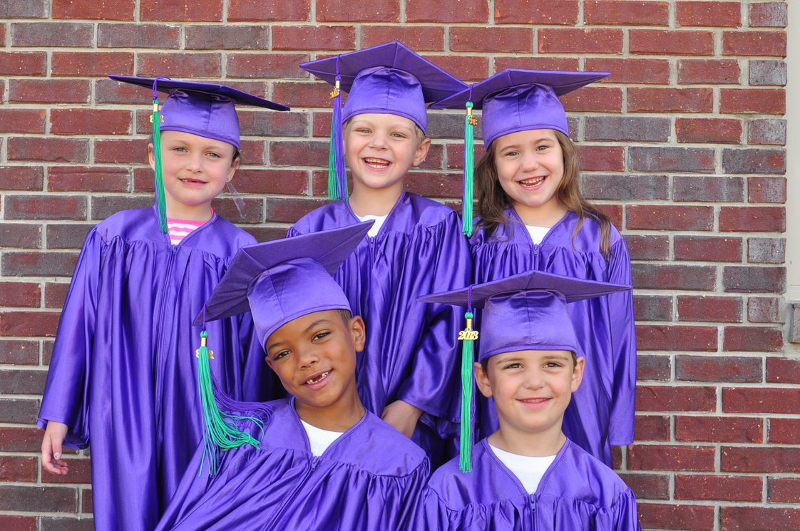 Adullam House Christian Academy Photo #1 - Kindergarten cap and gown graduation.
