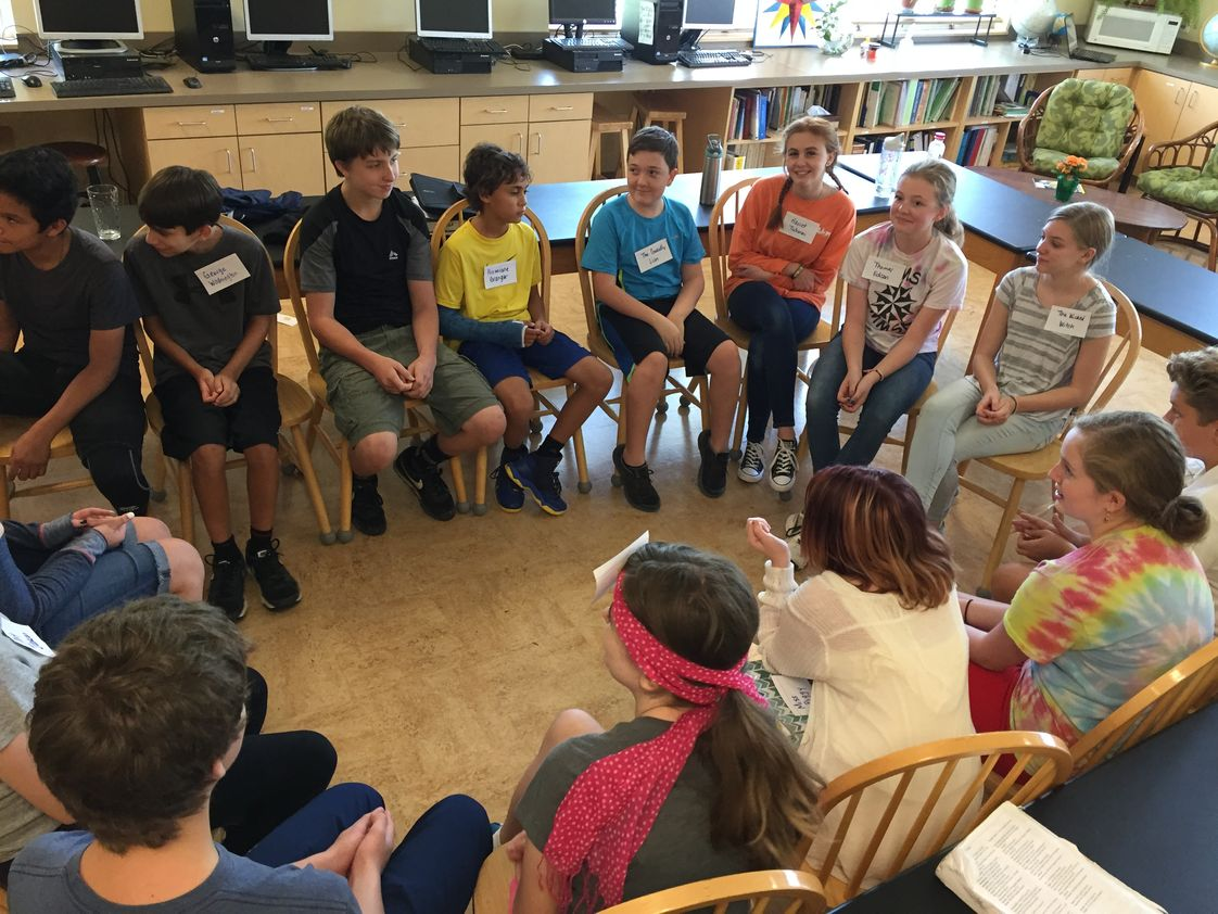 Montessori Middle School Of Kentucky Photo - Middle School students have community meetings to make decisions for the class.