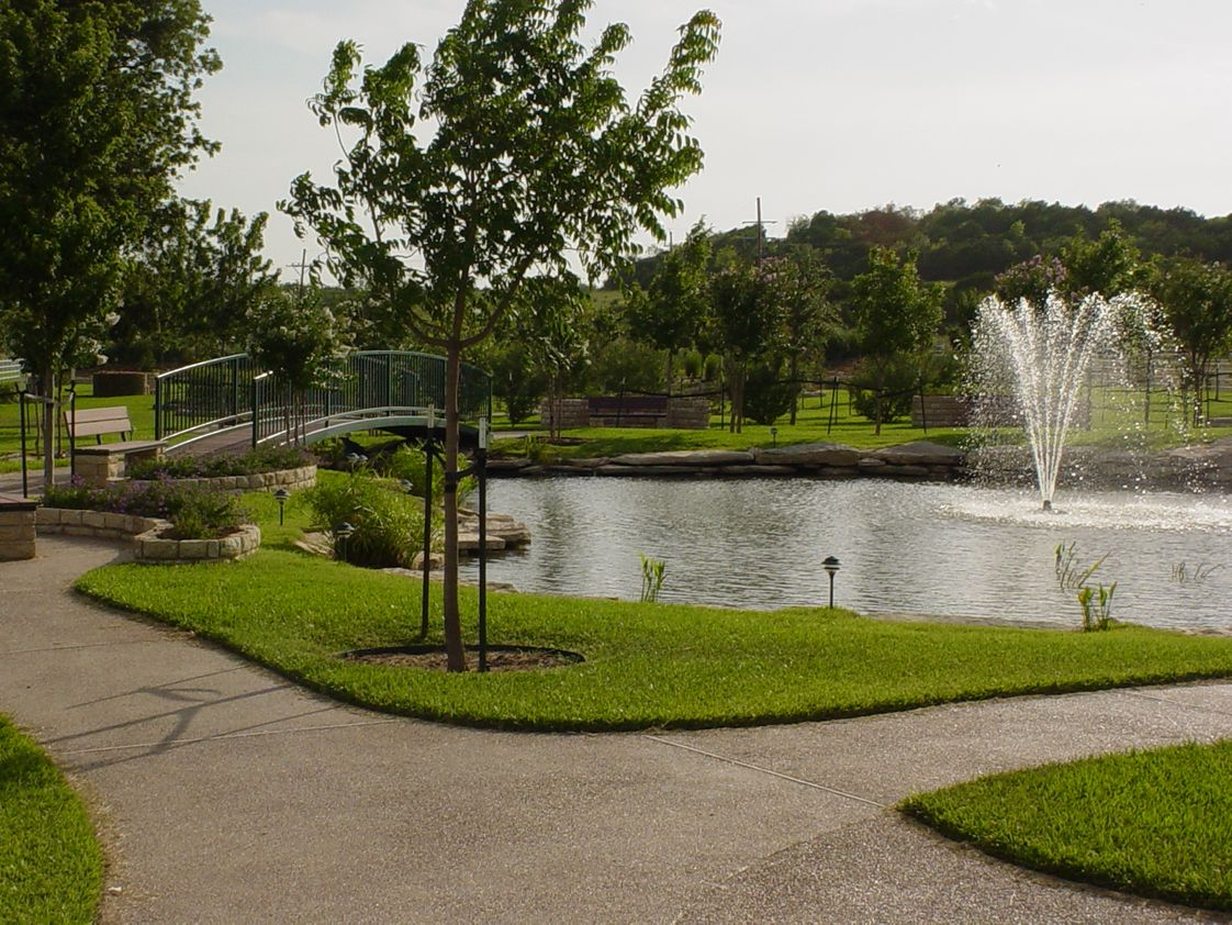 North Central Texas Academy Photo - The NCTA 500-acre campus features many beautiful areas, such as this 7-acre walking garden.