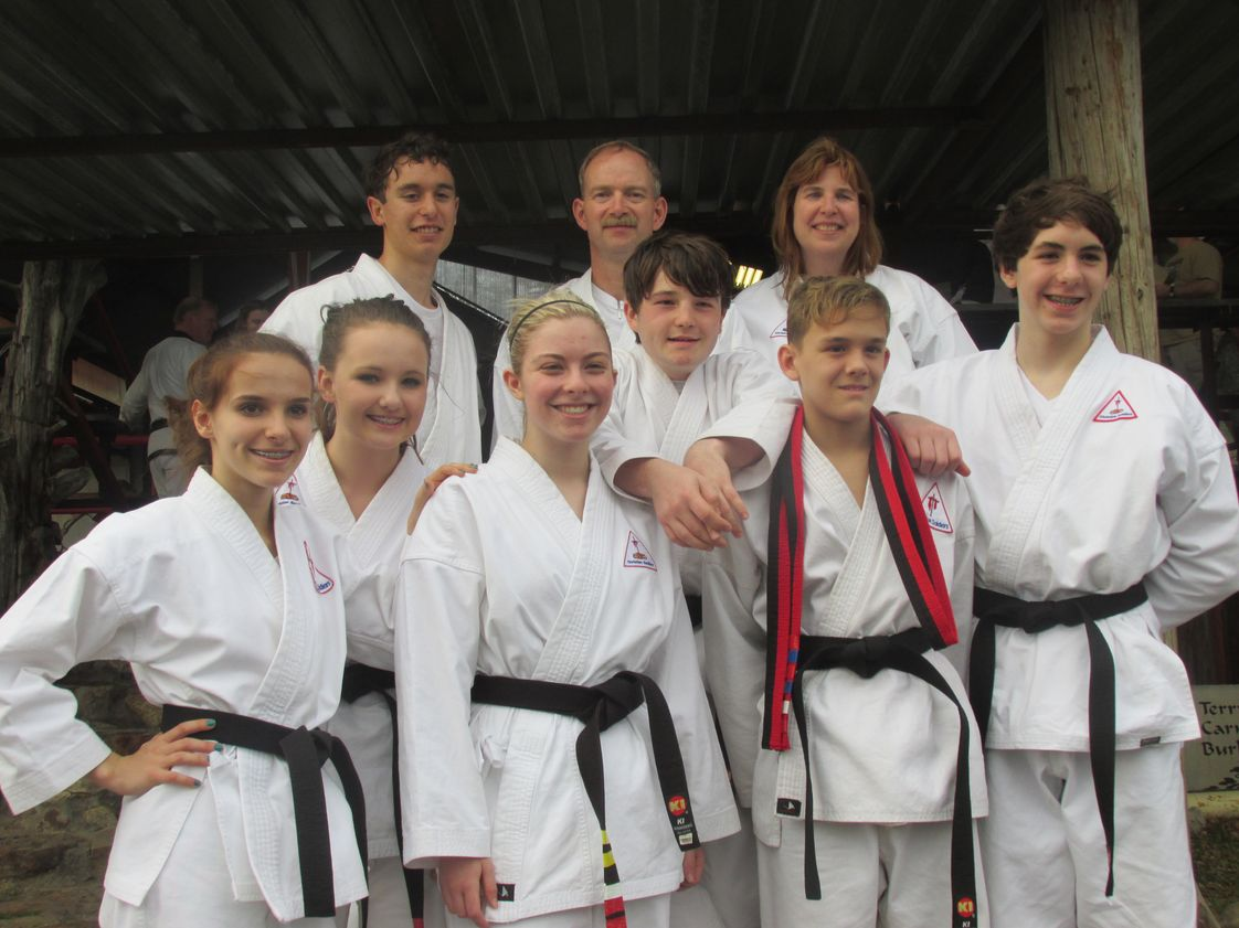 Poetry Community Christian School Photo - PCCS Christian Soldiers Karate 1st Degree and 2nd Degree Black Belt testing day