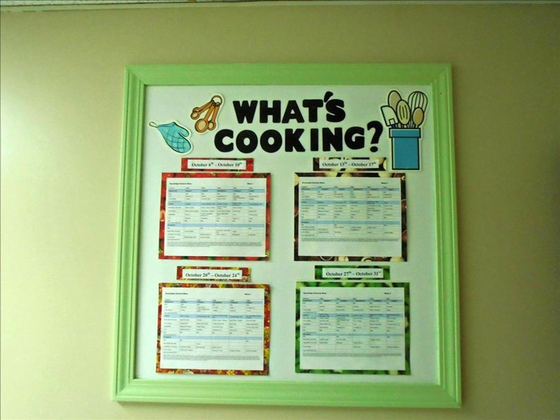 Sterling Heights KinderCare Photo #1 - Our Nutritional Special consistently updates our menu board so families can anticipate meals for breakfast, lunch or snack, all balanced for nutrition with fruits, vegetables, whole grain pastas and breads.