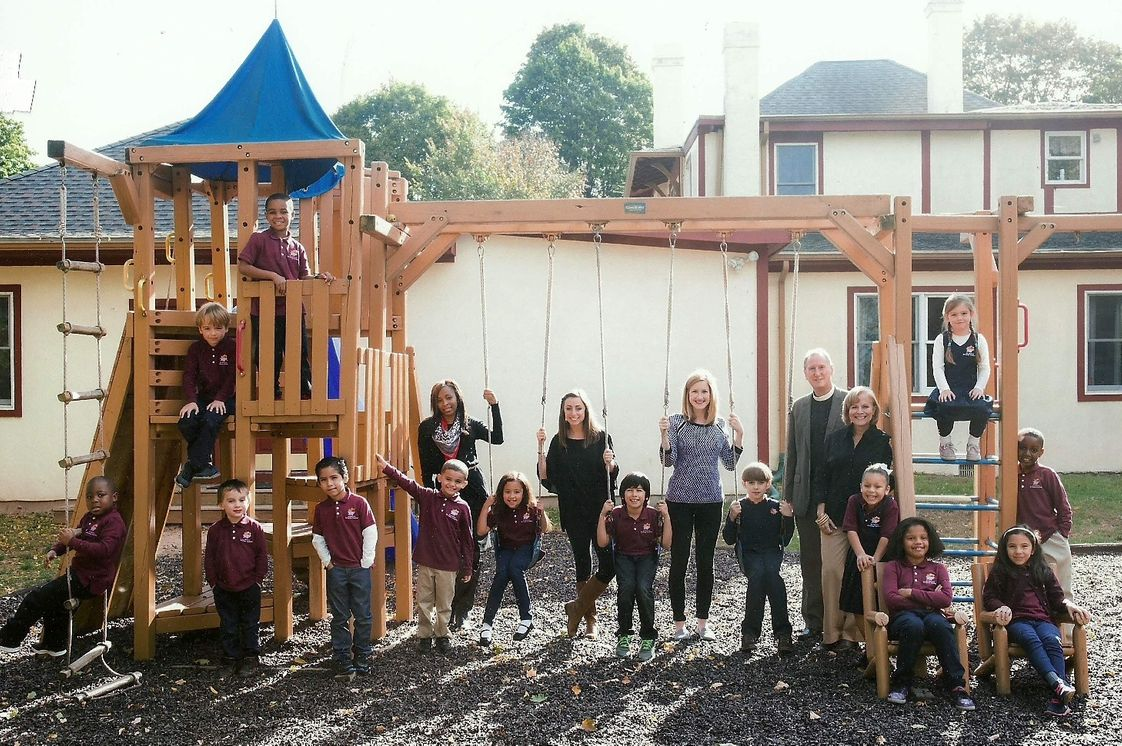 All Nations Christian Academy Photo #1 - Students and teachers on our fully-equipped outdoor playground