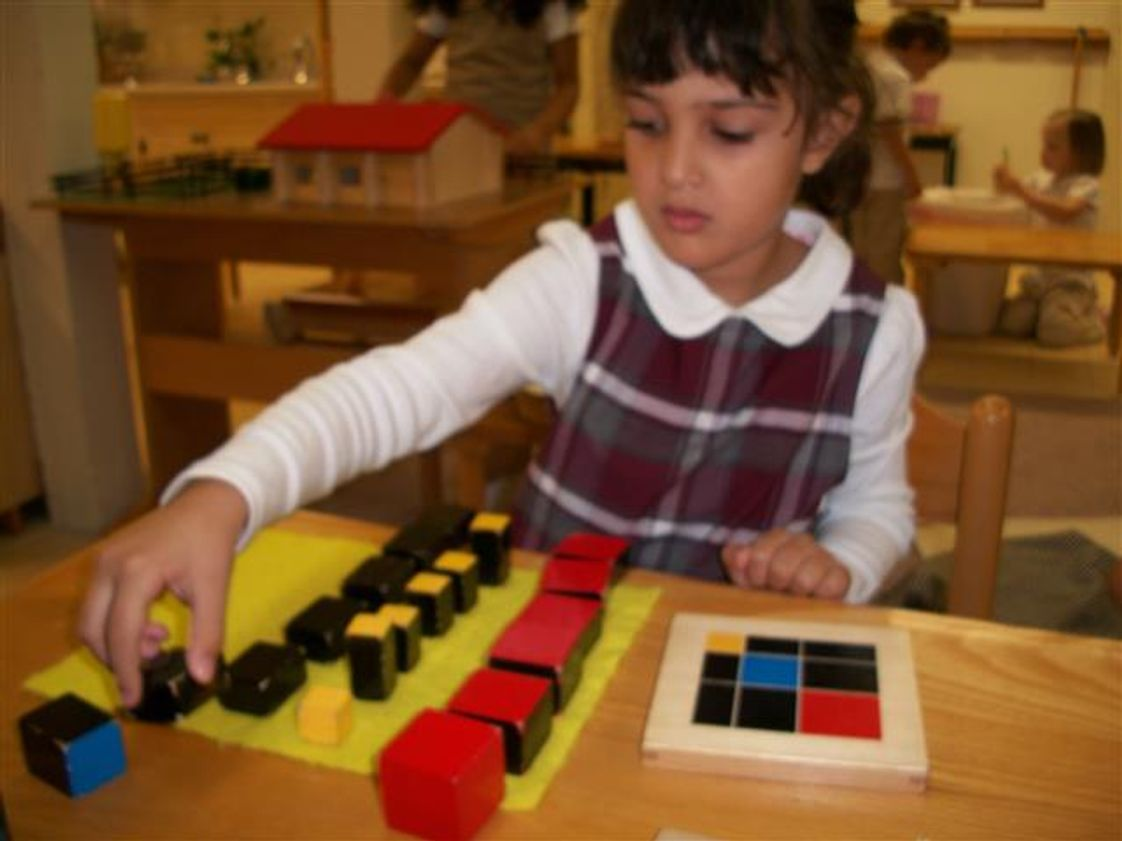 Montessori Academy of New Jersey Photo #1 - Sensorial materials serve as tools for development. Children build cognitive skills and learn to order and classify impressions by touching, seeing, smelling, tasting, listening, and exploring the physical properties of their environment.