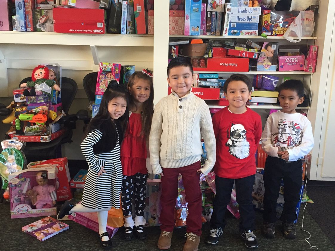 St. Pius V Catholic School Photo #1 - Kindergarten students proudly participated in St. Pius V's December toy drive, one of our many service events.