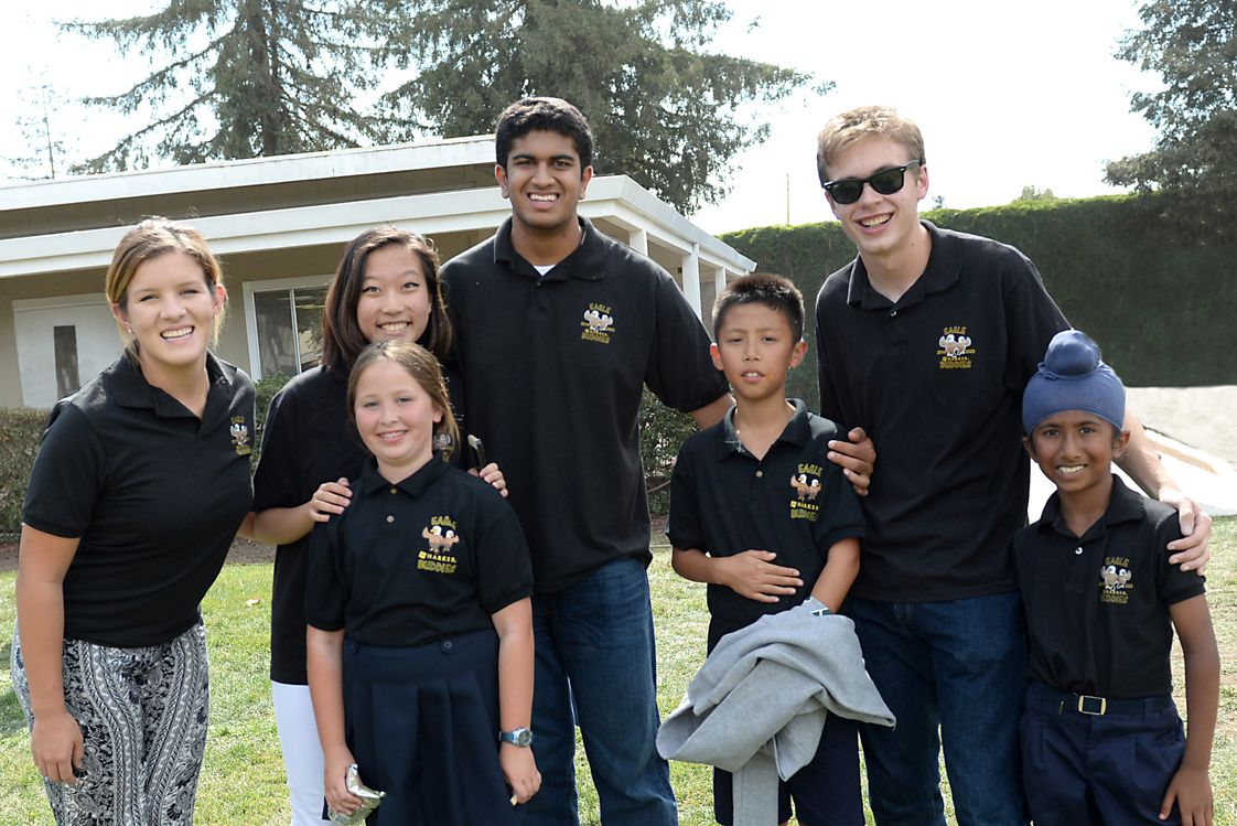 The Harker School Upper School Photo #1 - Harker's Eagle Buddies program matches upper school students with lower school students for three years. The buddies meet 3 times per year for fun and food!