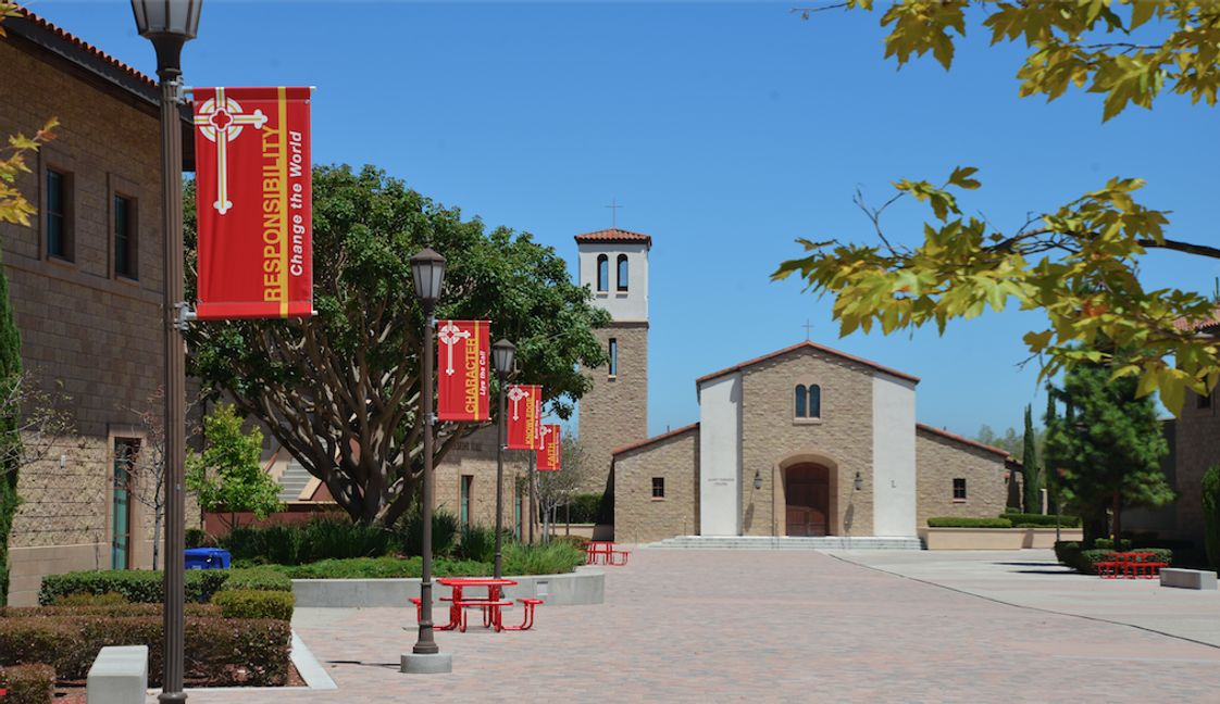 Cathedral Catholic High School Photo - Cathedral Catholic High School sits on 54 acres, and is located in the Carmel Valley community of San Diego, CA.