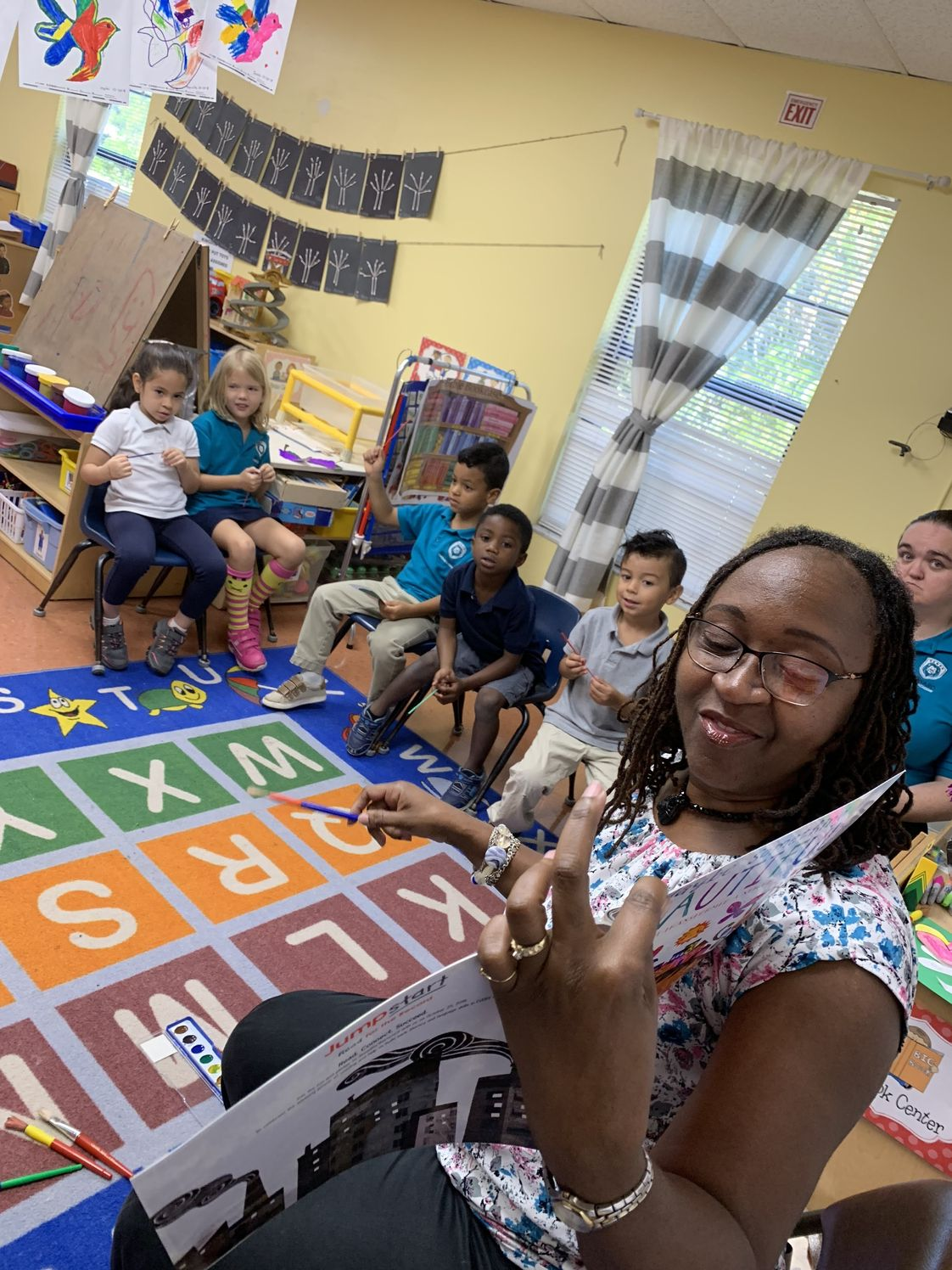 Broward Christian Academy Photo - Read for the record! Our Director Ms. Damita reading to one of our VPK classes.