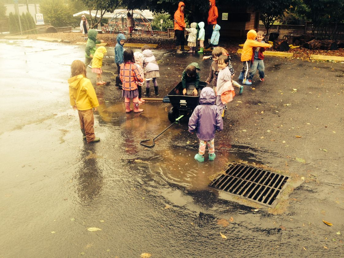 Puddletown School Photo #1 - rainy day