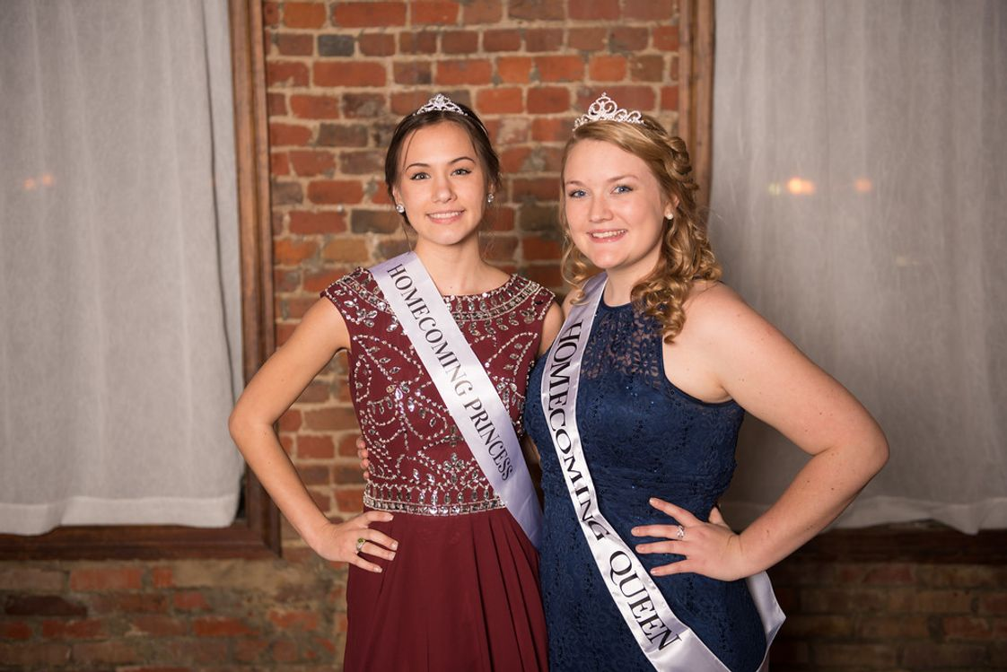 Suffolk Christian Academy Photo - Lady Knights shine like royalty at Homecoming.