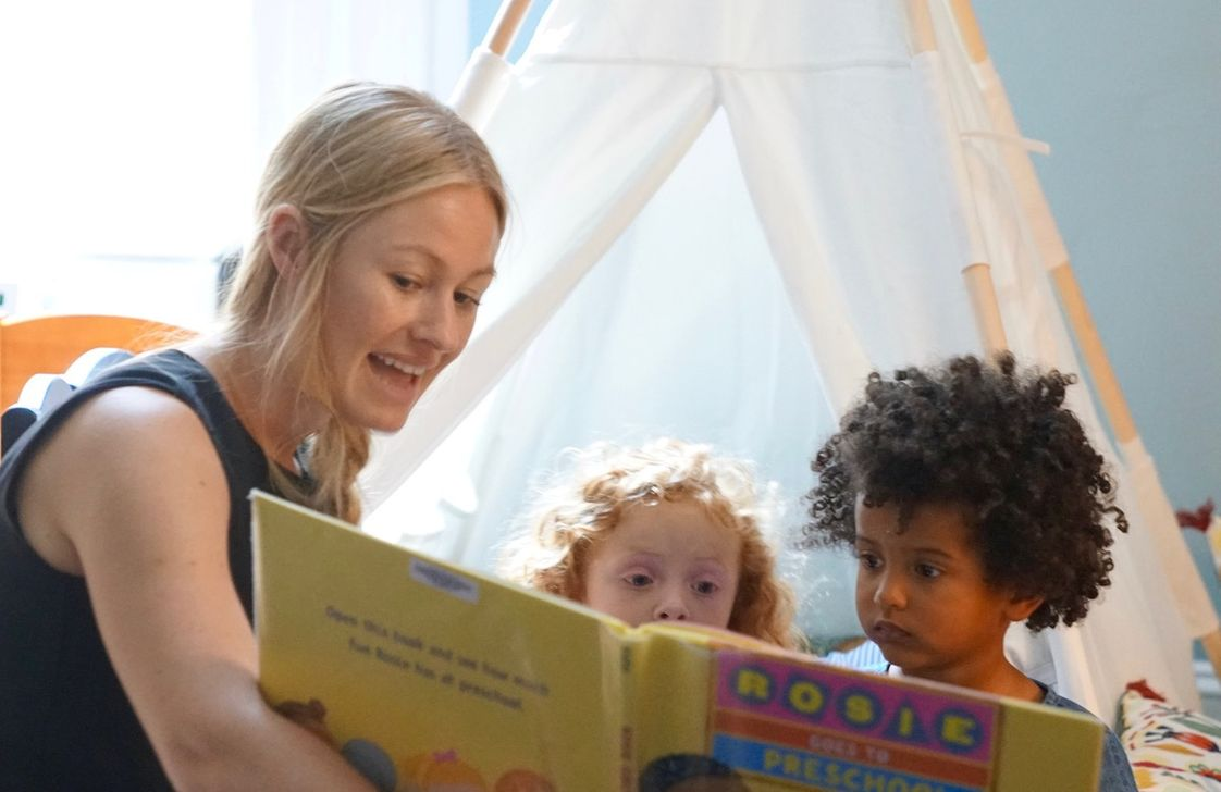 MUSE Academy Photo - Reading and literacy begins with the joy of storytelling in preschool.