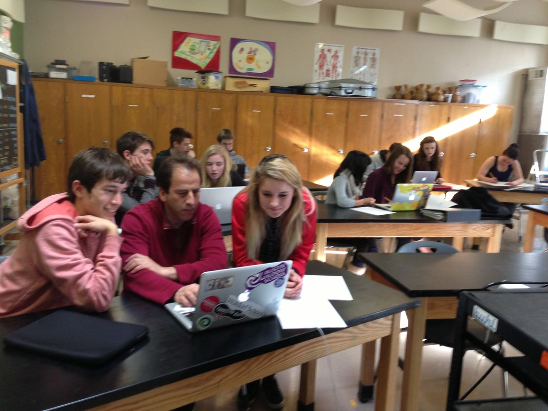 Waldorf School Of The Peninsula Photo #1 - Tenth grade students learn computer modeling with the program Stella, as part of their technology class.
