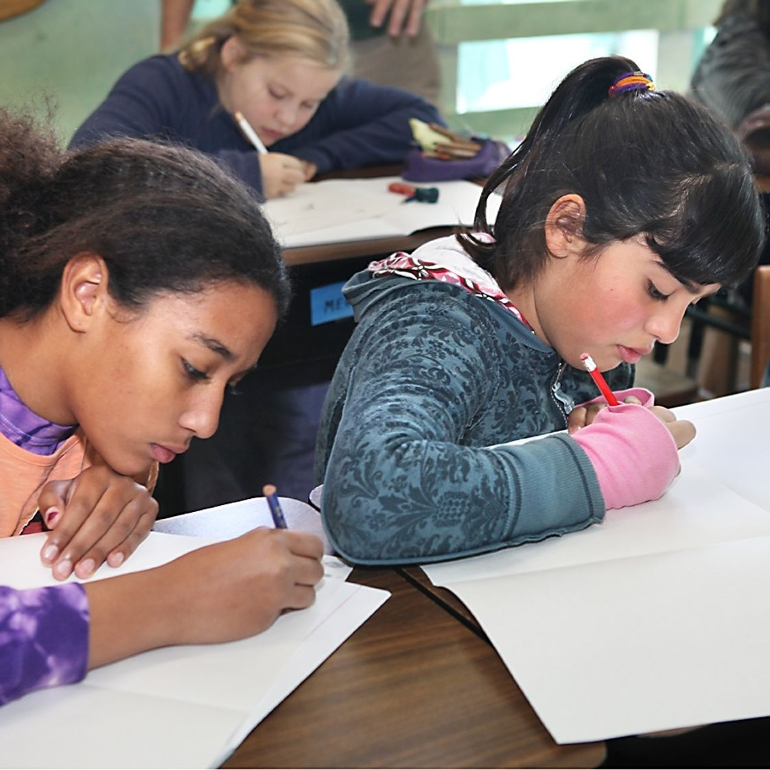 The Waldorf School Of San Diego Photo - Quiet concentration helps us make our academic work accurate and beautiful.