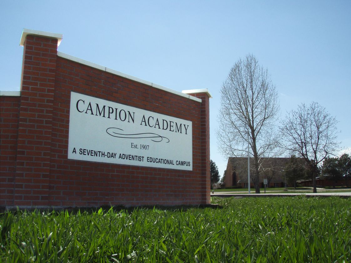 Campion Academy Photo - Sign at entrance to campus.