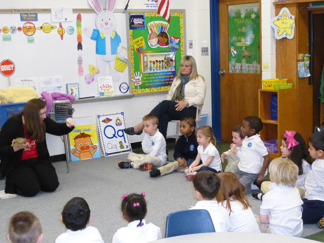 Assumption Catholic School Photo - Pre-K4 in classroom field trip. Visited by Earthplace to learn about reptiles. The students got to touch the animals and ask lots of questions!
