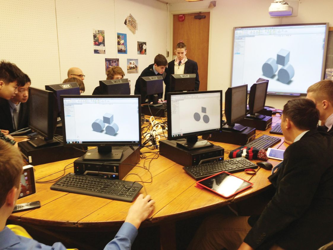 South Kent School Photo - Computer Aided Design classroom.