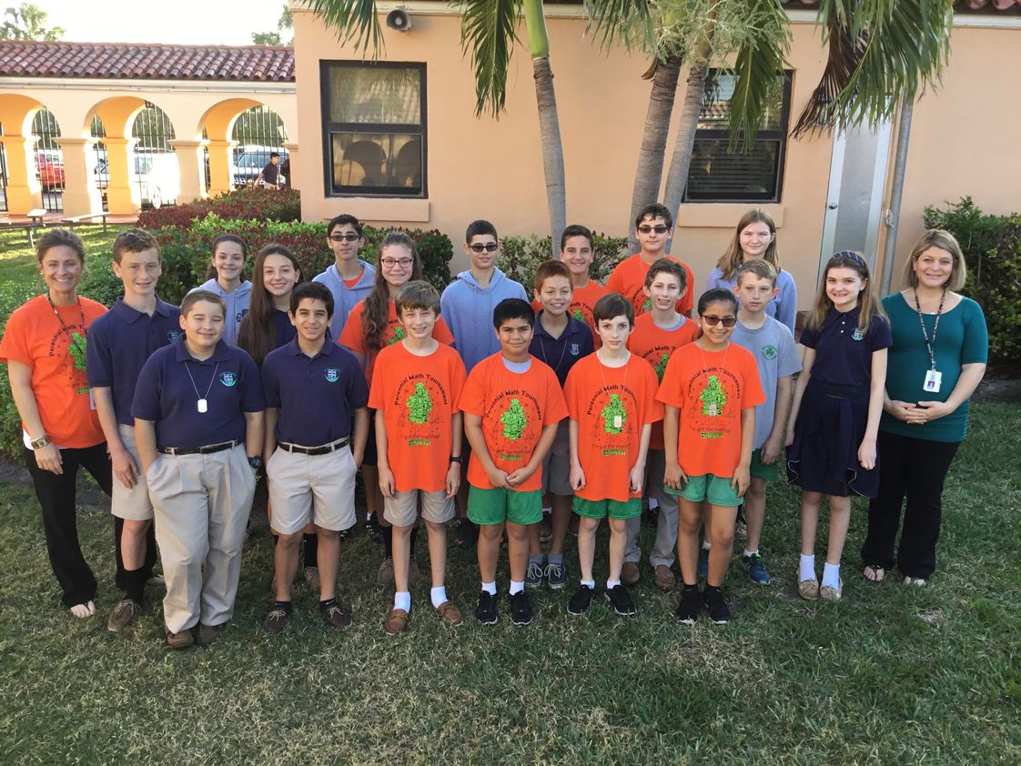 St Juliana Catholic School Photo - Perennial Math Competition 2018! Middle School Shamrocks won awards in the Individual and Group Categories!
