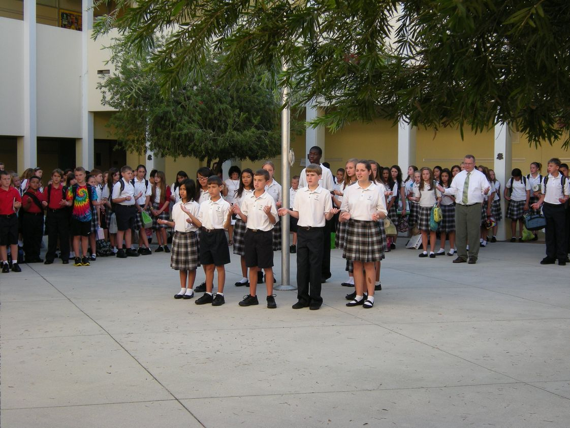 St. Peter Catholic School Photo - We begin and end each day with Morning and afternoon Prayer