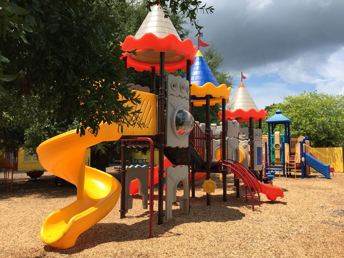 Land of Learning Academy Photo #1 - Our new playground structure! Without a doubt, our center has the best playground equipment of any Preschool in the State of Florida.