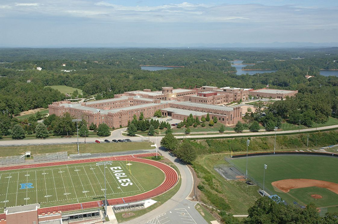 Riverside Military Academy Photo - Aerial view of Riverside Military Academy's 206 acre campus in Gainesville, GA.