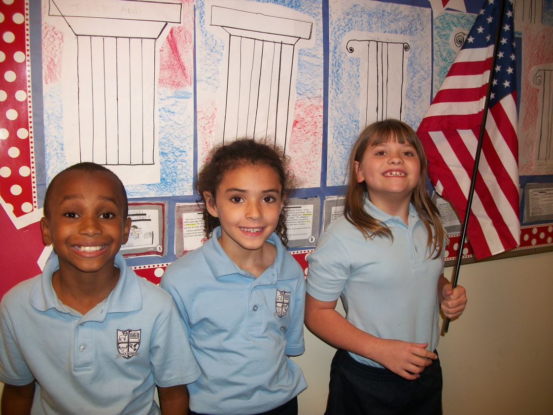 Sophia Academy Photo #1 - Students learn Greek roots of words as they also study the Constitution and the roots of democracy.