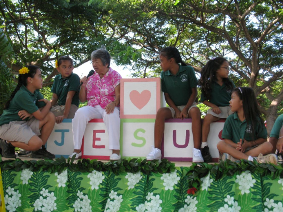 Christ The King School Photo #1 - Sr. Jean and some students from Christ the King School on a float at a recent Maui County Fair parade.