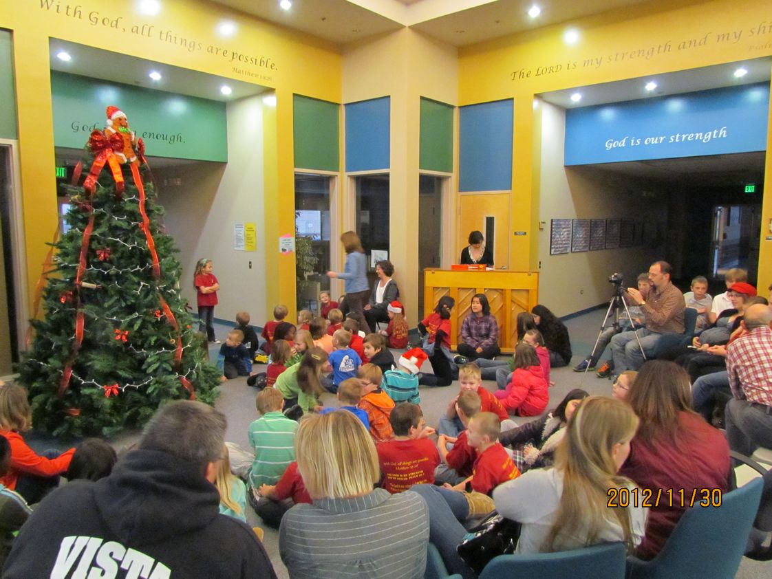 Boise Valley Adventist School Photo - Tree Lighting program - 2012