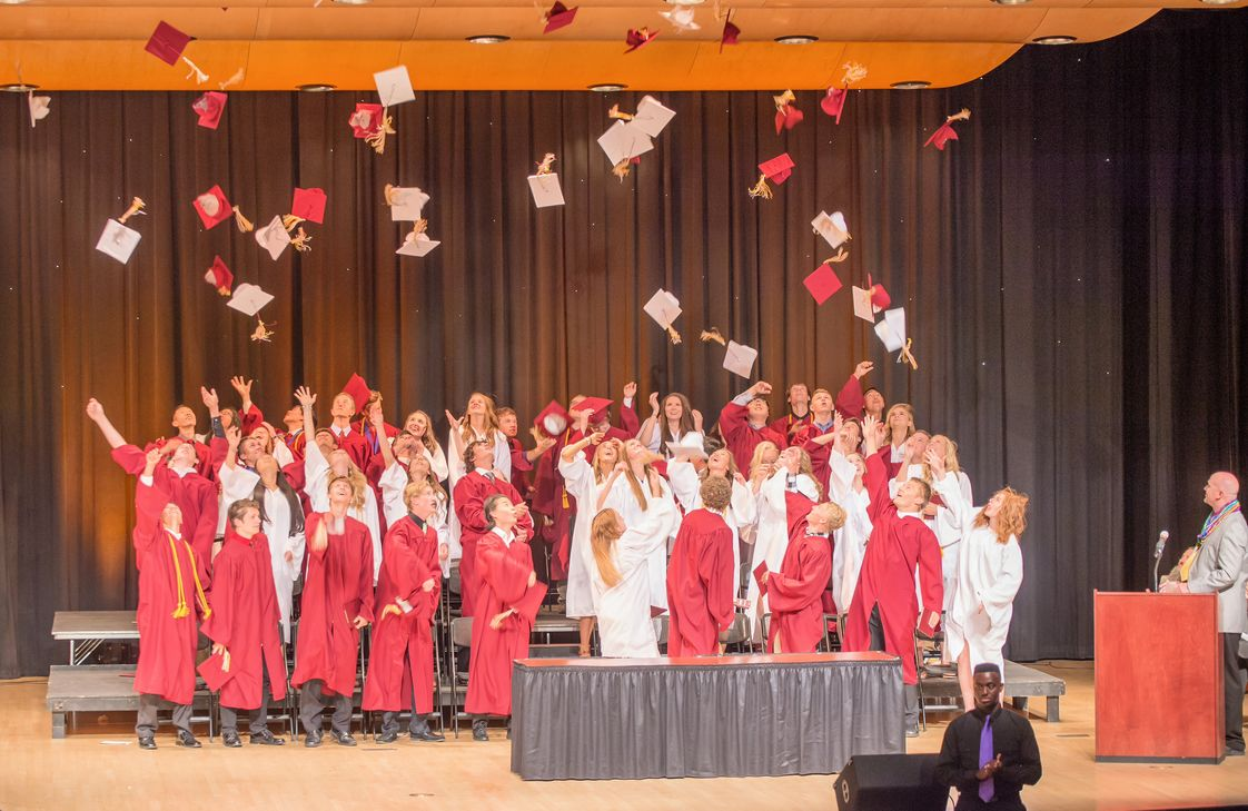 Nampa Christian Schools Photo - The class of 2016 celebrates commencement. 100% of these students when onto higher education. They have blessed our school beyond measure and will be missed.