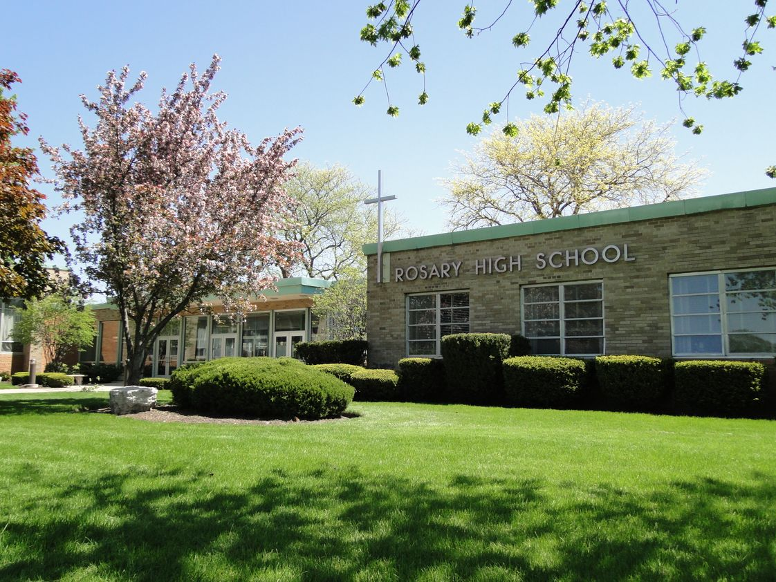 Rosary High School Photo - Rosary High School is a Catholic, college-preparatory high school for young women located at 901 N. Edgelawn Drive in Aurora, and sponsored by the Dominican Sisters of Springfield, Illinois. At Rosary, we empower young women to achieve their greatest potential. For more information about Rosary High School, please visit www.rosaryhs.com.