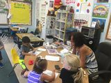 Mrs. G with her pre-k students