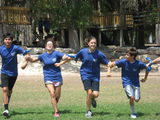Students enjoy a little competition at the annual student retreat in September.