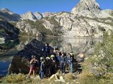 Students attending a student leadership development course in the Inyo National Forest.