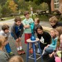 Peabody School Photo - Students in 5th grade environmental science observe a physical reaction.