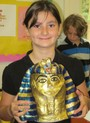 The Willow School Photo - An Egyptian bust made by a 4th grader for an Ancient History Project.