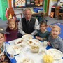 St. Patrick Elementary School Photo #6 - Our Principal, Mr. Rupcich, joined in the Thanksgiving celebration with the Preschool class.