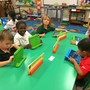 Xavier Catholic School Photo - Kindergarten students using iPads during class.