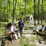 Berkshire School Photo #6 - Berkshire's rural setting allows students and faculty to explore academic material in a unique way. Here students are led in the School's outdoor classroom.