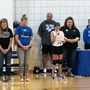 St John Lutheran School Photo #2 - A 5th-grade student begins St. John's home volleyball tournament with prayer.