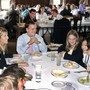 The Hill School Photo - Faculty and students enjoy a meal together during one of Hill's seated lunches in the Dining Room.