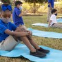 Oak Hill Academy Photo #9 - Yoga in the Learning Garden offers an opportunity for sensory breaks and mindfulness, in addition to our Sensory Motor Lab.