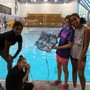 Alexandria Country Day School Photo #2 - Sixth graders test the SeaPerch underwater remotely operated vehicle they designed and built.