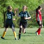Charlottesville Waldorf School Photo #2 - Shannon gets a high-five for a goal during a Middle School Girls Soccer match.