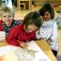 Marin Montessori School Photo - A Primary Classroom - kids ages 2 1/2 - 6 years old engaging in class work!