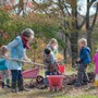 Green Meadow Waldorf School Photo #5 - Children have ample time in the outdoors everyday and regularly work in the gardens or on the farm.