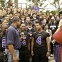 The Rock Academy Photo #4 - KUSI interviews Running Back Eric Morrison-Smith during their weekly Prep Pigskin Report Pep Rally