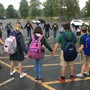 Genoa Christian Academy Photo - Students lead prayer during the annual See You at the Pole event.