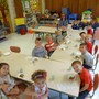 Trinity Lutheran Christian Preschool Photo - Our pre-kindergarten class enjoying the apple crisp they made!