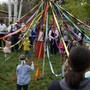 Boulder Waldorf Kindergarten Photo #2 - Decorating the May Pole! Our entire community comes out to celebrate the return of Lady Spring at this annual festival.