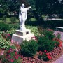 Academy Of The Sacred Heart Photo - A memorial garden on the grounds of the Academy of the Sacred Heart