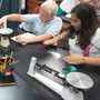 The Willow School Photo - Middle schoolers conducting science experiments.