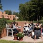 Fountain Valley School Of Colorado Photo #3 - Students meet with their adviser on a beautiful Colorado Springs fall day.